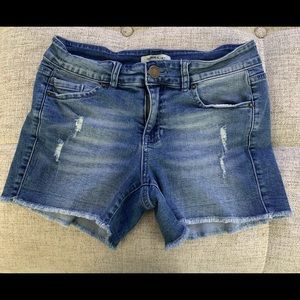 O'Neill Distressed Jean Shorts